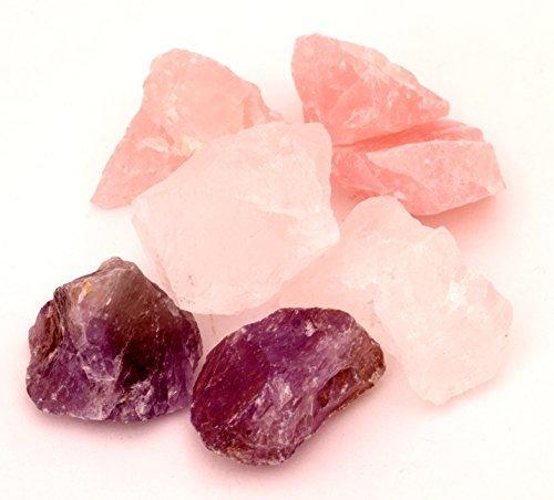 edelstein wasser basis set rosenquarz bergkristall amethyst - Edelstein Wasser Basis-Set Rosenquarz, Bergkristall, Amethyst