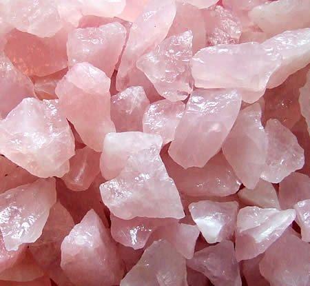 rosenquarz rohsteine klein 500g - Rosenquarz Rohsteine klein 500g